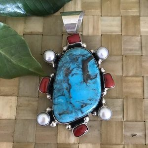 Native American Chimney Butte Turquoise Pendant